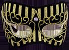 Чёрная с золотом маска