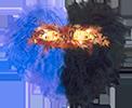 Маска из сине-чёрных перьев